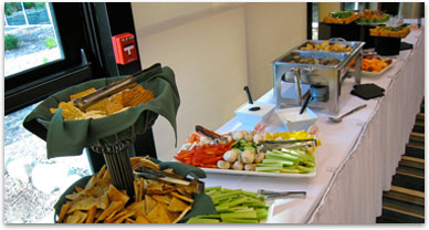 Food and dining at a previous IUE conference
